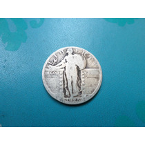 Moneda Antigua 25 Centavos Dolar 1925