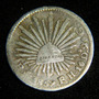 Moneda Medio 1/2 Real 1859 Mexio Plata Republica %