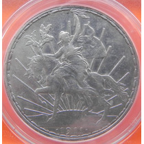 Moneda Mexico $1.00 Peso Caballito 1911 Certificado