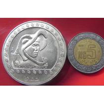 Medalla Mexico $100 Pesos Caballero Aguila 1992 Plata