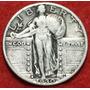 Aaaa 1930 S Standing Libertad Cuarto Dolar Rara Xf Plata Cjb