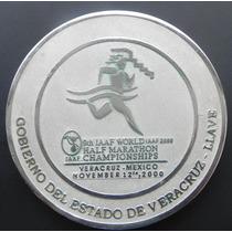 Medalla Mexico Veracruz 2000 Plata 5 Onzas Certificada