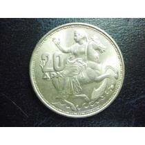Grecia 20 Apaxmai Fecha 1960 Plata Ley 0.800