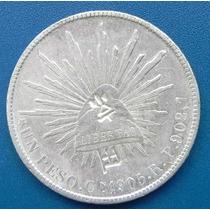 Moneda Mexico $1.00 Peso1905 Culiacan Con Chops Grandes Rara