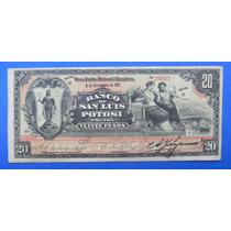 Billete Banco San Luis Potosí $20 Pesos 1911