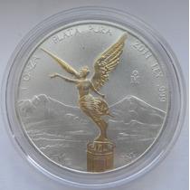 Moneda Onza Troy Plata Con Angel Oro Edicion Limitada 2011