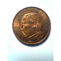 Diez Centavos De Cobre Moneda Mexicana 1966 Sin Circular