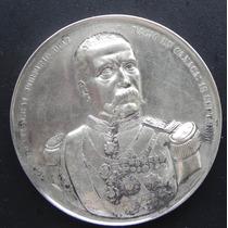 Medalla Mexico Homenaje Porfirio Diaz Plata 1902 Muy Escasa