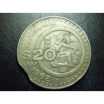Mexico 20 Pesos Segmentada Fecha 1982 Niquel