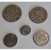 Paquete De Monedas Mexicanas De 50, 10, 5 Y 1 Pesos