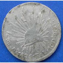 Moneda 8 R Durango 1825 Rl C/punto Excelente Escasa
