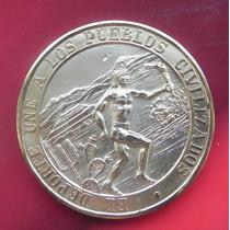 Medalla México 68 Plata Color Dorada Escasa En Este Color