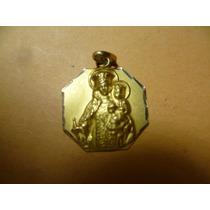 Medalla Religiosa De 18 K. Oro.