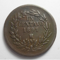 1 Centavo 1891 Mo - República Mexicana - Muy Buena Condición