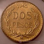 Moneda De Oro Centenario Mexico 2 Pesos Oro Año 1945