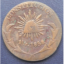 Moneda Mexico 1/4 De Real Durango 1858 Excelente Condicion