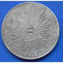 Moneda México Culiacan 8 Reales 1878 J D