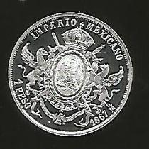 Peso Maximiliano En Plata 1/4 De Onza