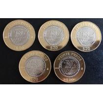 Mexico 2015 $20 Fuerza Aerea 100 Años Lote 10 Monedas Nuevas