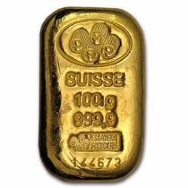 Lingote Pamp Suisse 100 Gramos Oro Puro .9999 Certificado