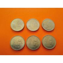Monedas 10 Pesos Hidalgo Serie Completa Años 85-90