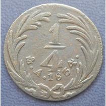 Moneda Mexico 1/4 De Real 1834 Escasa Su Condicion Cobre