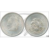 Moneda Plata Cuauhtemoc 1947 Cinco Pesos