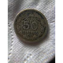 50 Centavos 1921 Fecha Ancha Y Fecha Angosta