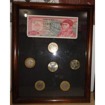 6 Monedas 20 Pesos Y Billete, Hidalgo Ejercito, Belisario