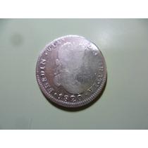 Antigua Moneda De 2 R Fern. Vii 1820. Zs. A. G. Plata.