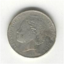 Super Ganga, Moneda De 2 Pesetas De España Del Año 1894