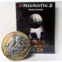 Moneda $20 Pesos Gesta Heroica Veracruz Excelente Condición.