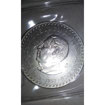Moneda Plata 5 Pesos 1957 Juarez Centenario De Constitucion