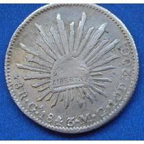 Moneda México 8 Reales Guadalajara 1843 Mc Excelente Estado