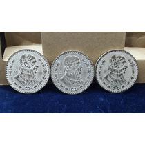Lote Tres Monedas 1 Peso De Plata Mexicano 1964(...)
