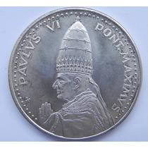 Medalla Roma Pontifice Pablo Vi 1975 Plata Excelente