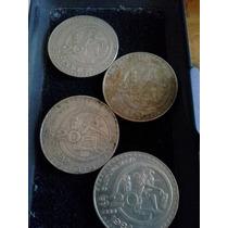 4 Monedas Antiguas 20 Pesos Cultura Maya Serie Complet 80-84