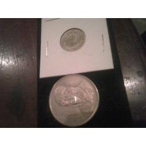 Dos Monedas De Plata No Subasta