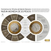 Moneda Conmemorativa 100 Años Del Ejercito Mexicano Coleccio