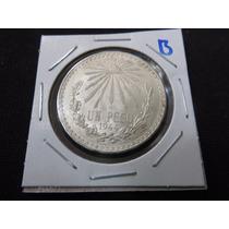 Monedas Plata 1 Un Peso Resplandor 1944 Ley.720