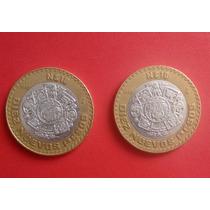 Coleccionables Monedas Diez 10 Nuevos Pesos Plata