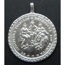Medalla México Santisima Trinidad Siglo 18 Plata Como Nueva
