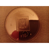 Moneda Escasa De Estados Tlaxcala Onza Plata 100 Pesos