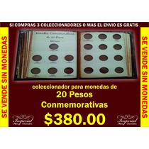 Coleccionador Para Monedas De 20 Pesos Conmemorativas