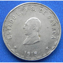Moneda Mexico Revolucion 5 Pesos Oaxaca Plata Escasa