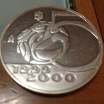 Moneda Plata Aguila Azteca Del Milenio. Escasa