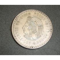 Cuauhtemoc Cinco Pesos Plata 1948 Ley .900 30 Gramos