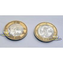 2 Moneda Bimetalicas 20 Pesos Octavio Paz Y Fuego Nuevo 2000