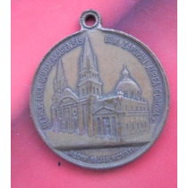 Medalla Virgen De Zapopan Cobre Antigua