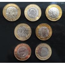 Mexico 2010-2015 $20 Conmemorativas 7 Monedas Escasas Cpl.